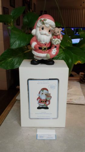 """PRECIOUS MOMENTS """"FILLED WITH CHRISTMAS JOY"""" 121023 SANTA WITH GORGEOUS STOCKI in Collectibles, Decorative Collectibles, Decorative Collectible Brands, Precious Moments, Figurines, Other Precious Moments Figures 