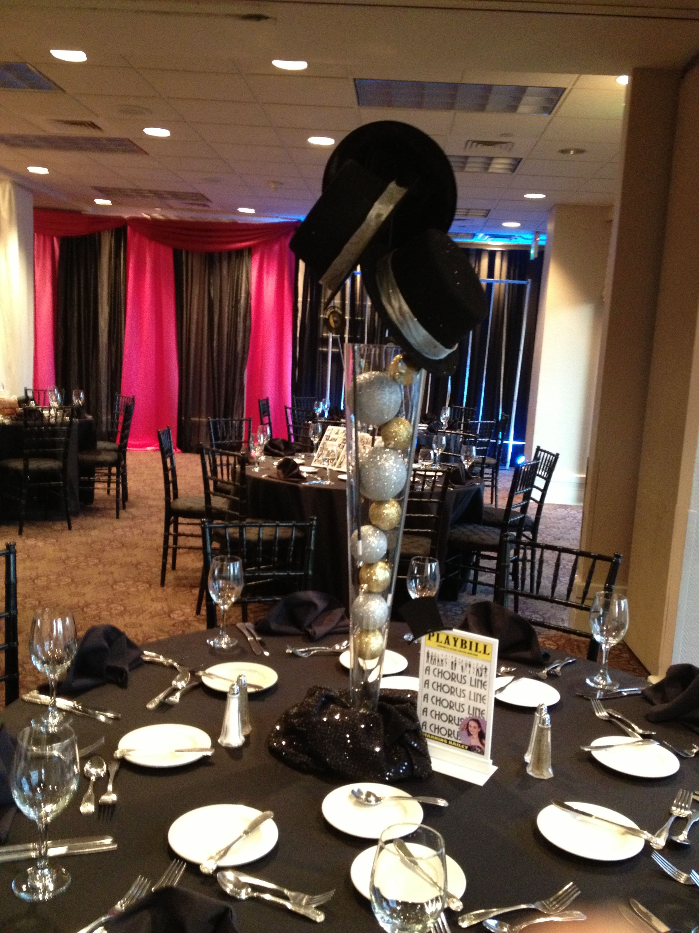 A Chorus Line Centerpiece Wwwtheeventscompanycom