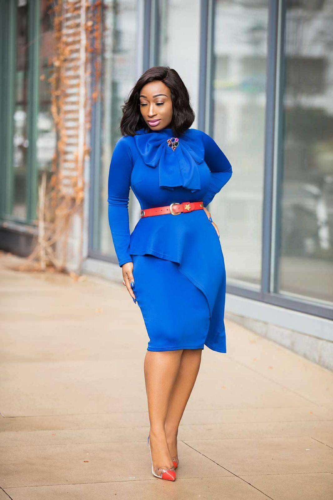 Tipsclass Fashion to night out peplum dress