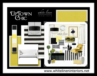 Black And White With Yellow Accent Mood Board AccentsYellow BlackPromotional DesignPresentation BoardsHome Decor IdeasInterior