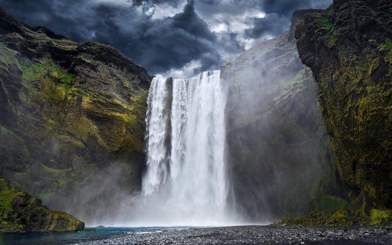 Skogafoss Beautiful Waterfall 4k Wallpaper 3840x2160 Size