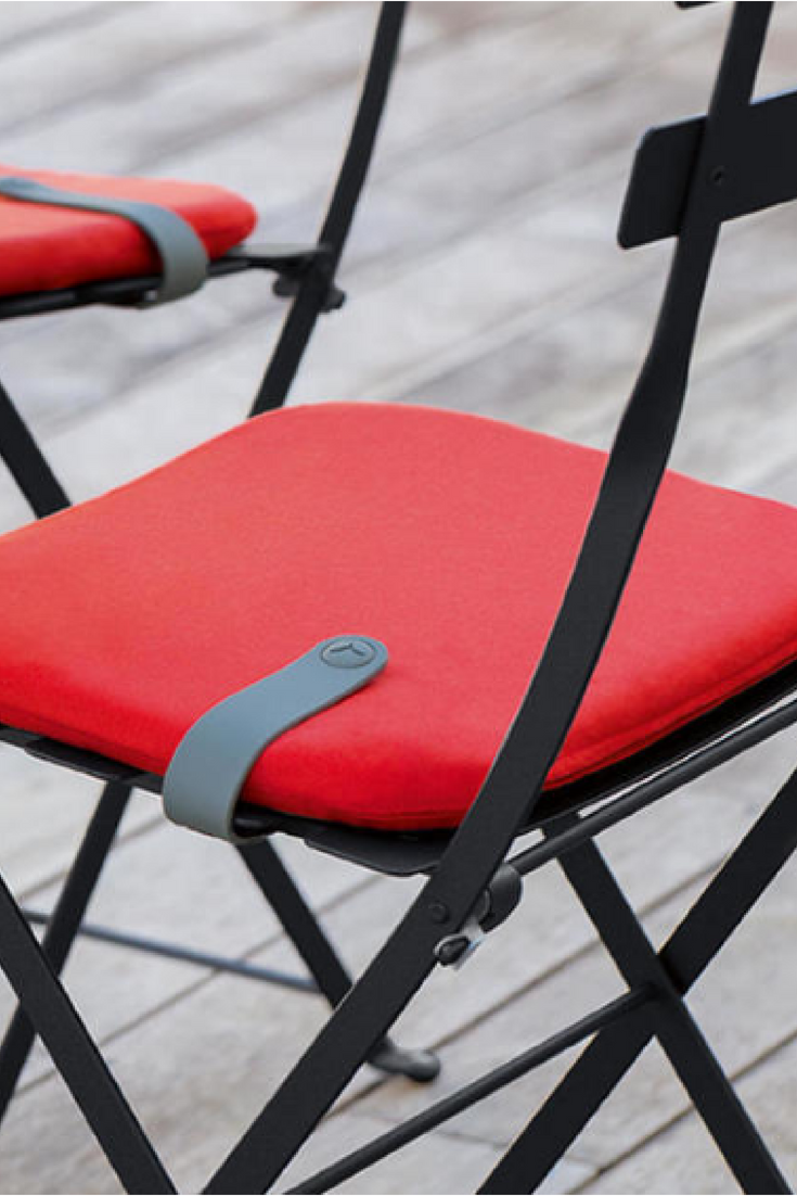 Colourful Outdoor Seat Cushions For Bistro Chairs Fermob Garden