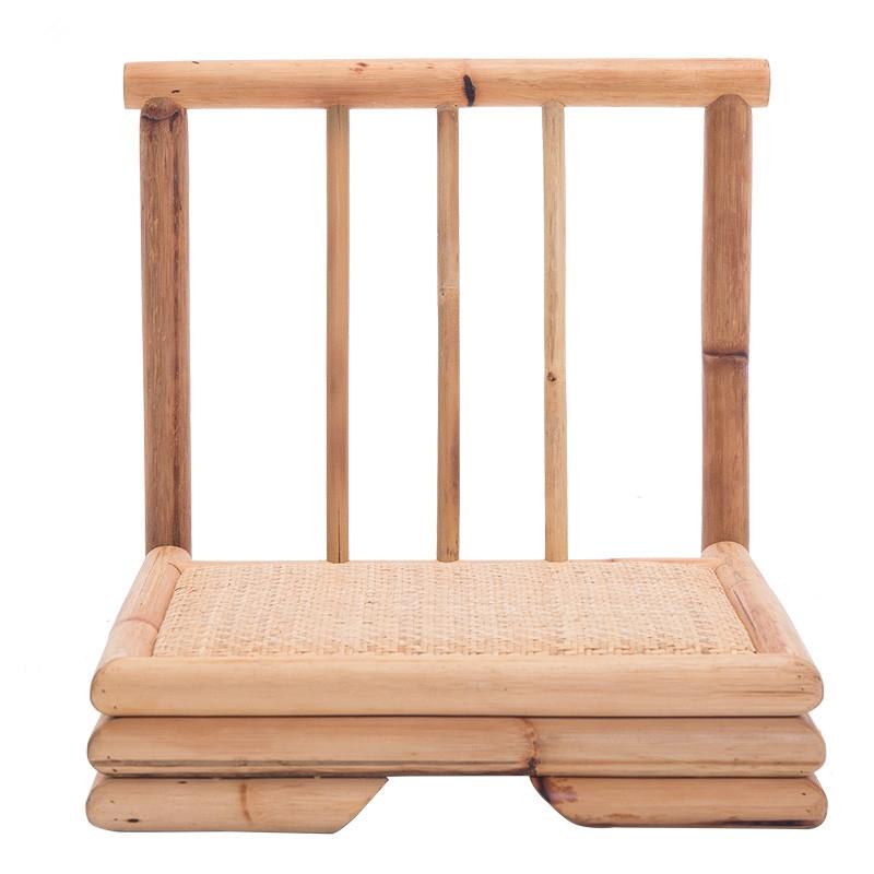 99.00$  Buy now - http://ali5ri.shopchina.info/go.php?t=32658855852 - Modern Rattan Bamboo Chair Japanese Style Tatami Zaisu Living Room Furniture Bamboo Legless Floor Chair Rattan Hand Crafted  #magazine