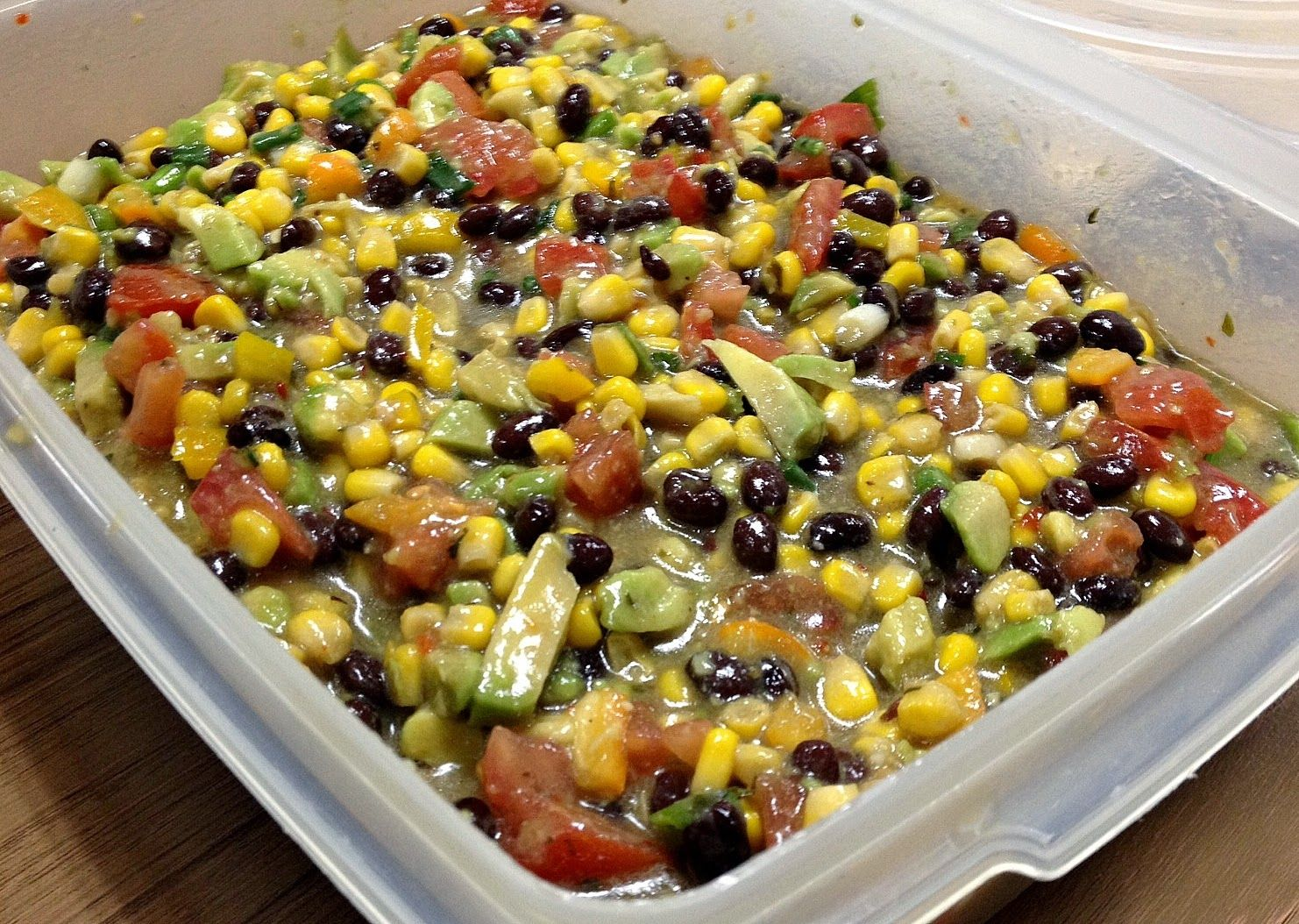 Man That Stuff Is Good!: Whit's Bean & Corn Dip Just in time for Super Bowl Sunday. And if you don't like football? Here's a good dip to nibble on anytime!  http://manthatstuffisgood.blogspot.com/2015/01/whits-bean-corn-dip.html