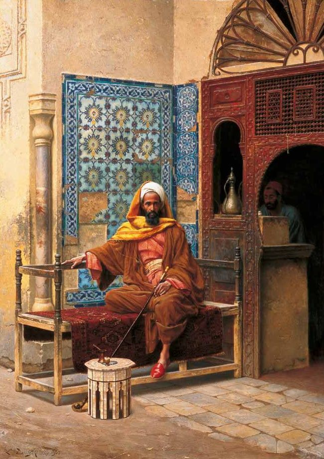 'The Smoker' by Ludwig Deutsch The Shafik Gabr Collection, Selected Paintings