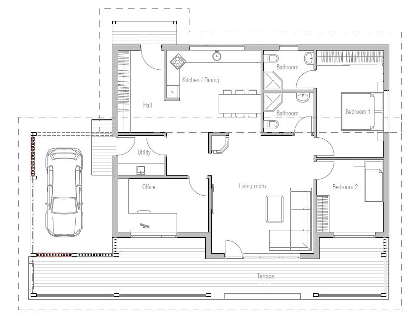 Small House Ch23 Small House Plans Cheap House Plans House Plans