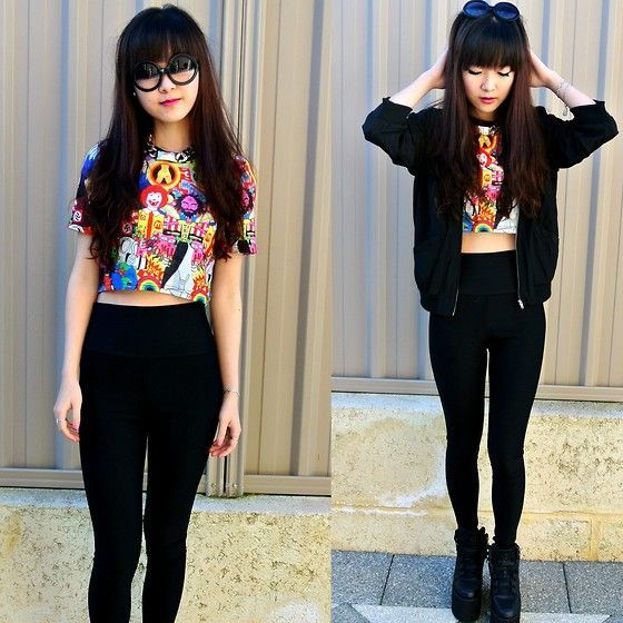 Crop Top With High Waist Leggings/Jeggings | Ways to wear crop top ...