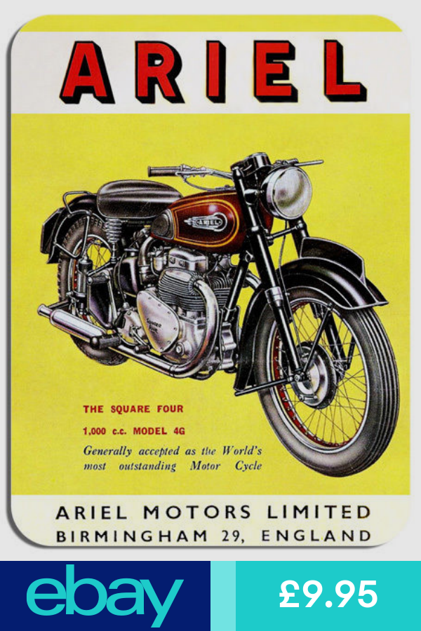 Ariel Square Four Vintage Ad Mouse Mat Motorcycle Motorbike Biker Mouse Pad Vintage Motorcycle Posters Motorbikes Motorcycle