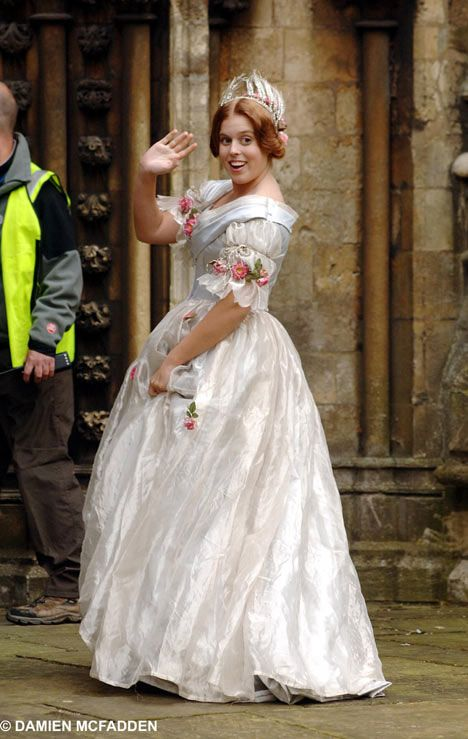 Princess Beatrice in her role in the Movie Young Victoria.  Her mother, Sarah Ferguson, the former Duchess of York, actually  researched  wrote 2 books about the young Victoria and Albert and she co-produced the movie with Graham King and Martin Scorsese.