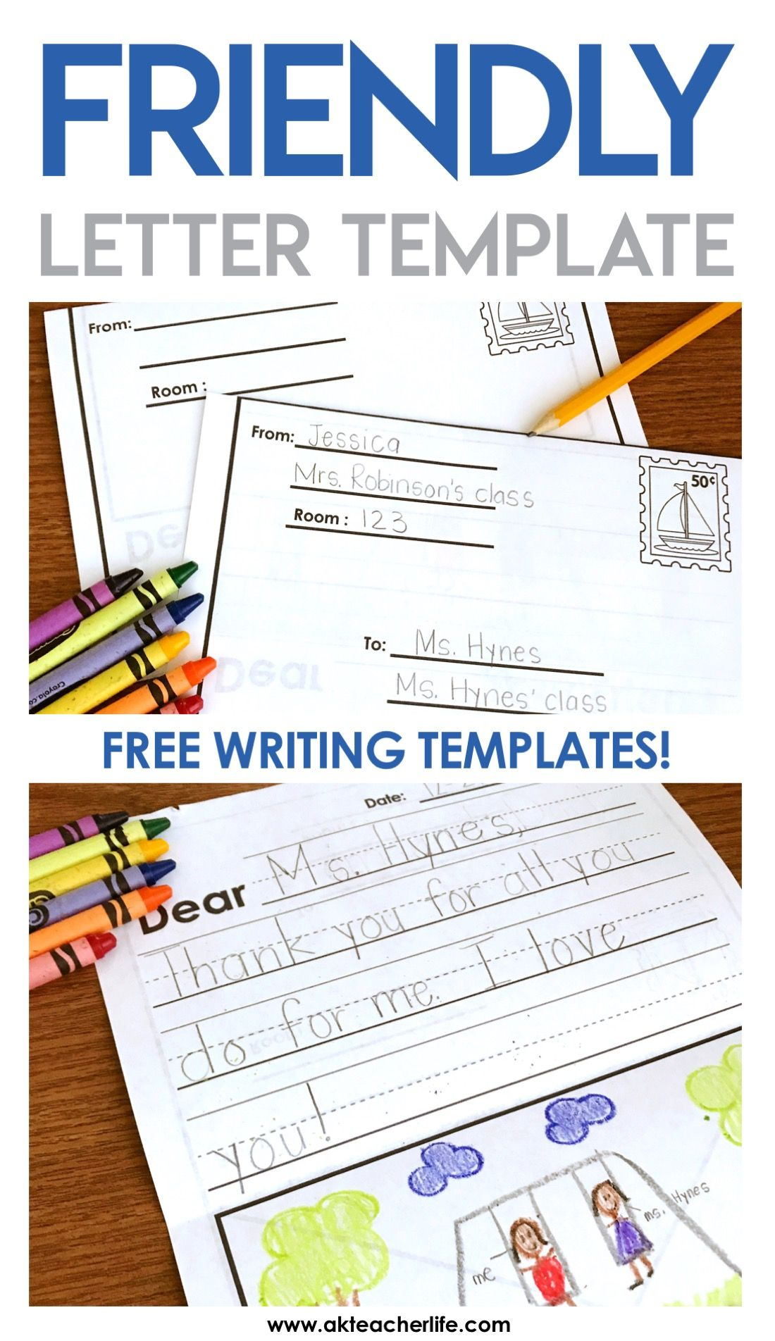Friendly Letter Writing Paper A Kinderteacher Life Pinterest