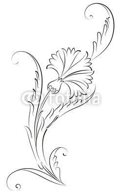 Osmanlı Motifleri Cam Boyama Muster Blumen Ve Blumen Zeichnung