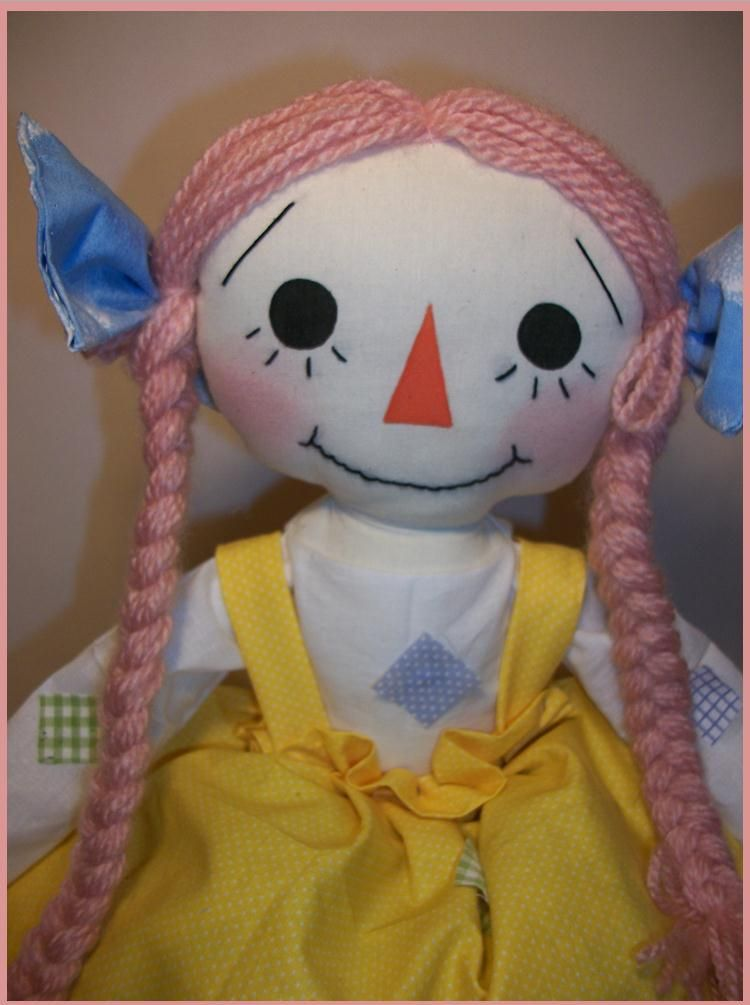 Snow Drop Shop: Rag Doll Sewing Pattern: Rag Doll Patches   handmade ...