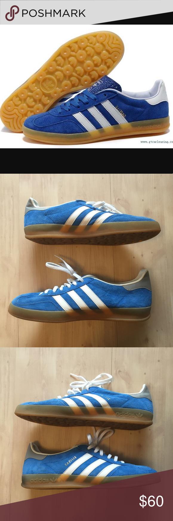 Adidas gazzella Uomo scamosciato blu / bianco sz nwob adidas gazzella
