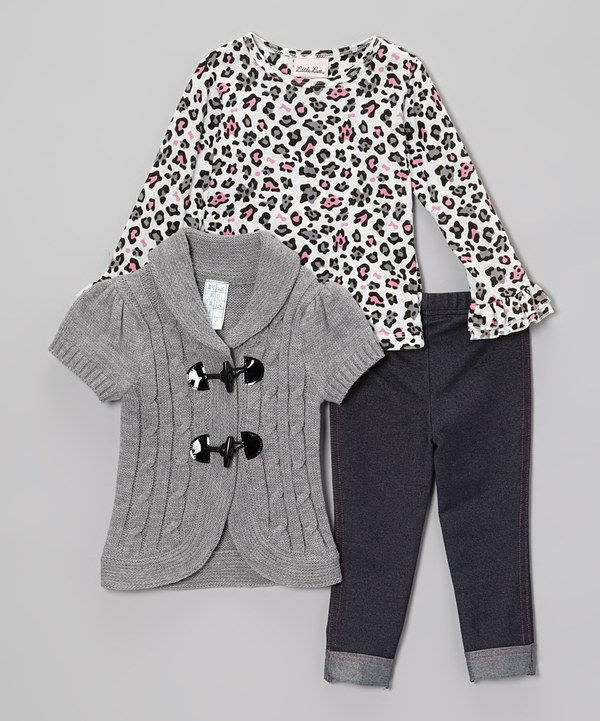 3209485b4 Take a look at this Gray Cardigan Set - Infant