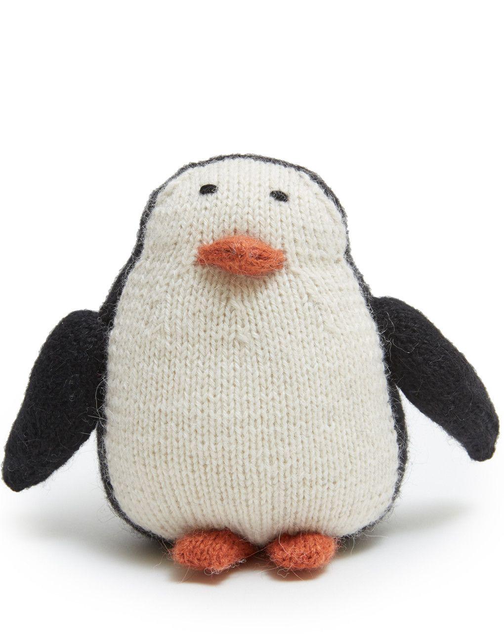 Penguin Knitted stuffed animals, Animal baby shower