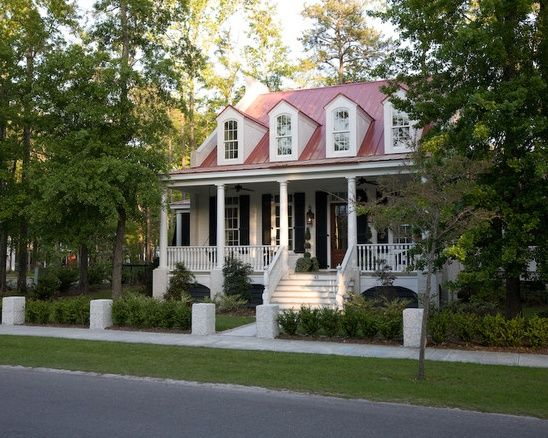 Red roof, white house   Add On   Pinterest   Red roof house, Exterior house  colors, House roof