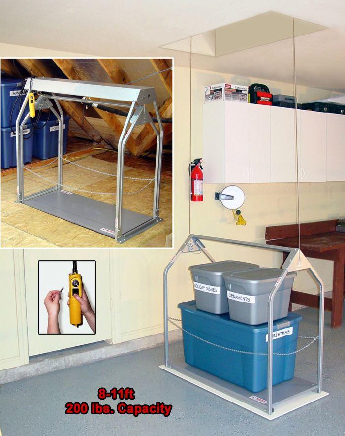Standard Height Remote Attic Lift Attic Storage Attic Storage Solutions Attic Flooring