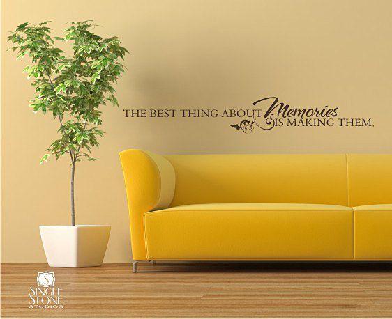 Memories Wall Decal Quote - Vinyl Word Art   Memory wall, Word art ...