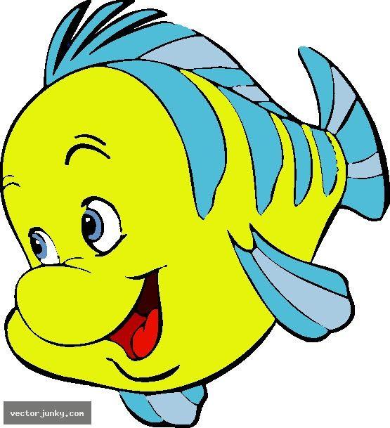 Flounder Fish Clipart The Little Mermaid Disney Clipart