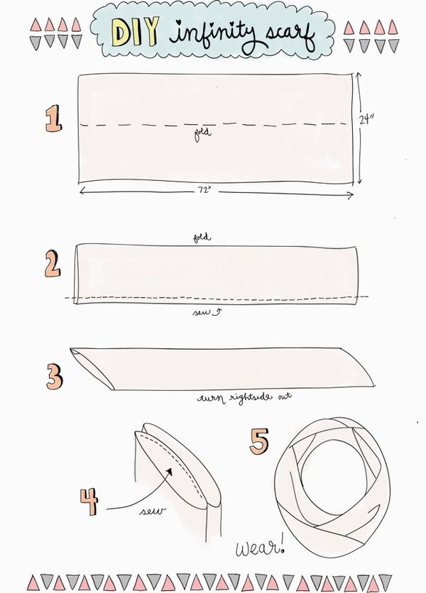 DIY infinity scarf with 1 yard fabric. | sewing. | Pinterest ...