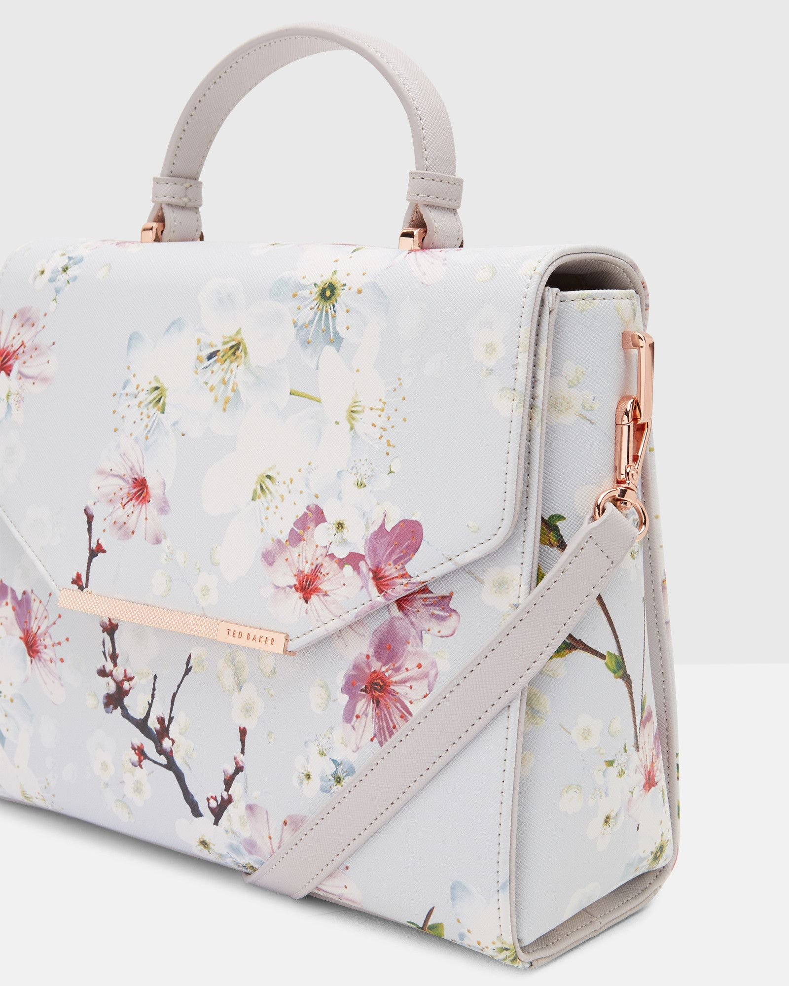 Oriental Blossom Tote Bag Light Grey Bags Ted Baker Uk Sac