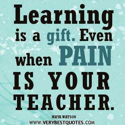 Motivate Yourself By Yourself Pain has the power of teaching