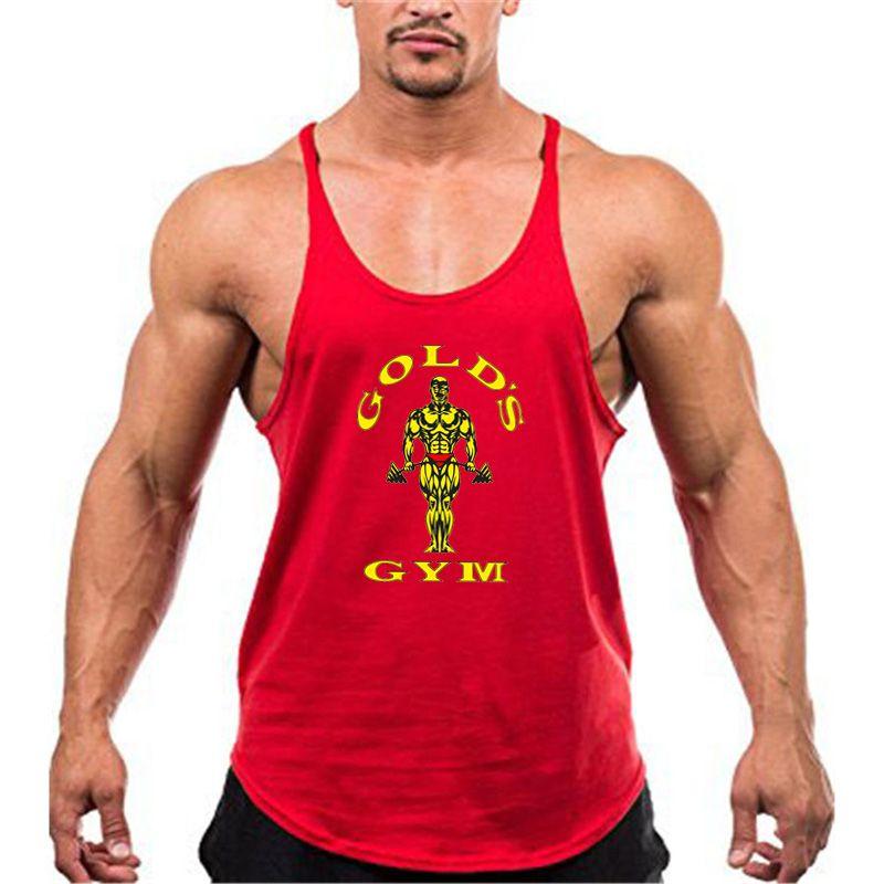 Nova Parte Superior Do Tanque de Musculação Homens Fitness Ginásios  Ginásios Longarina Camisa Roupas de Marca 940311460da