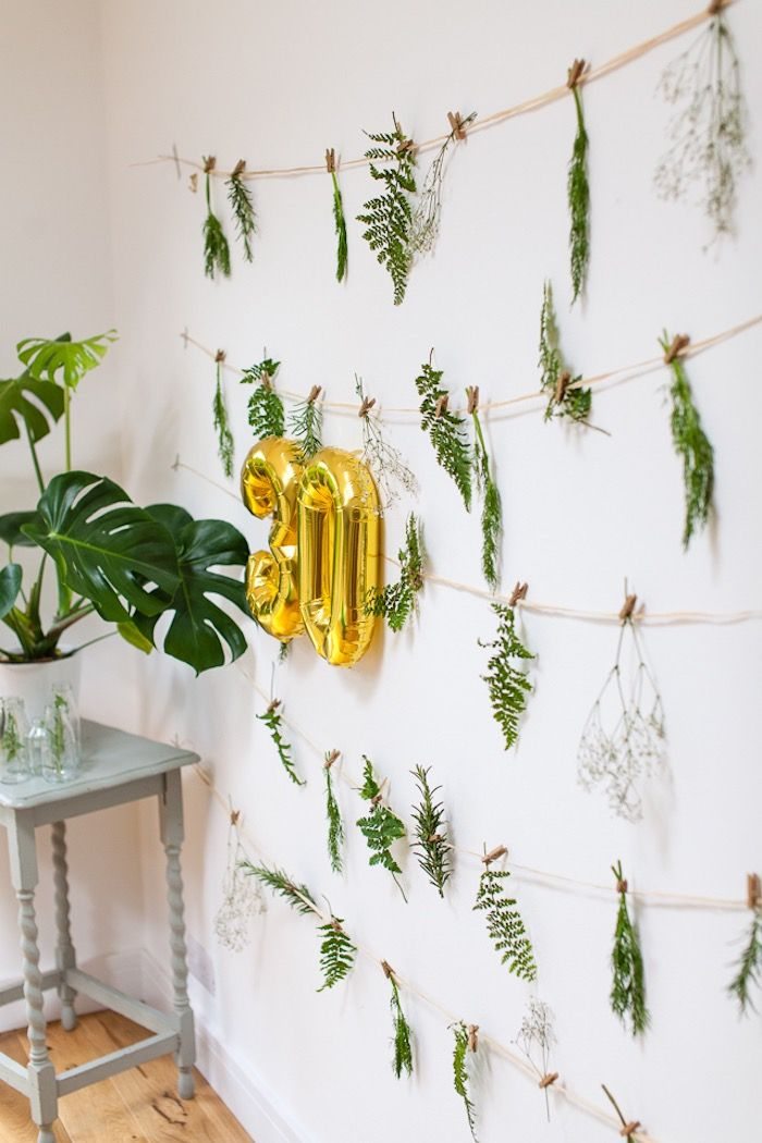 Botanical Background From Elegant Botanical Garden Birthday Brunch At  Karau0027s Party Ideas. See The On