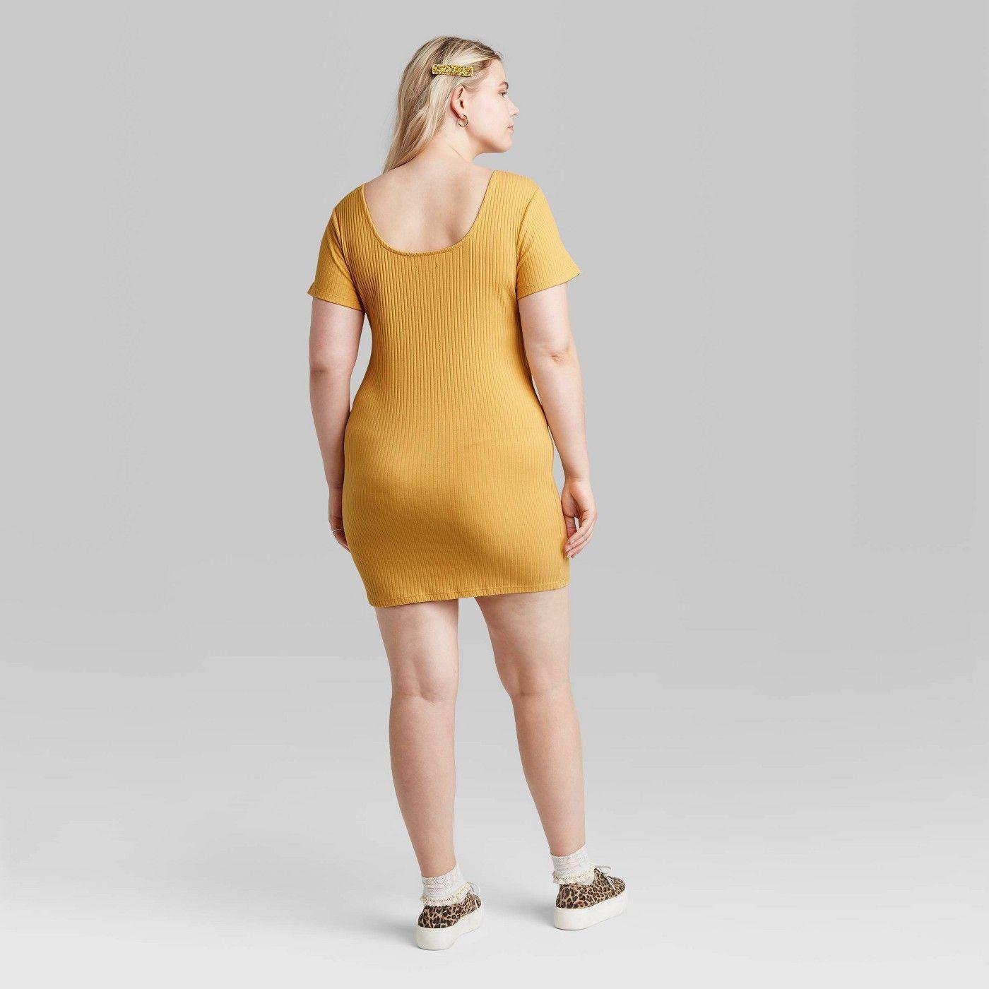 Women S Short Sleeve Knit Dress Wild Fable Knit Mini Dress Knit Dress Women S Plus Size Shorts [ 1400 x 1400 Pixel ]