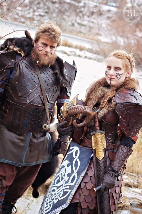 Amazing looking warrior couple | LARP wardrobe | Larp