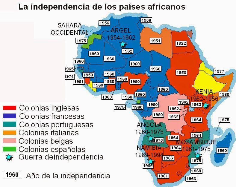 Canción Por áfrica Imágenes De Mapas Actividades De Geografía Historia Universal Contemporanea