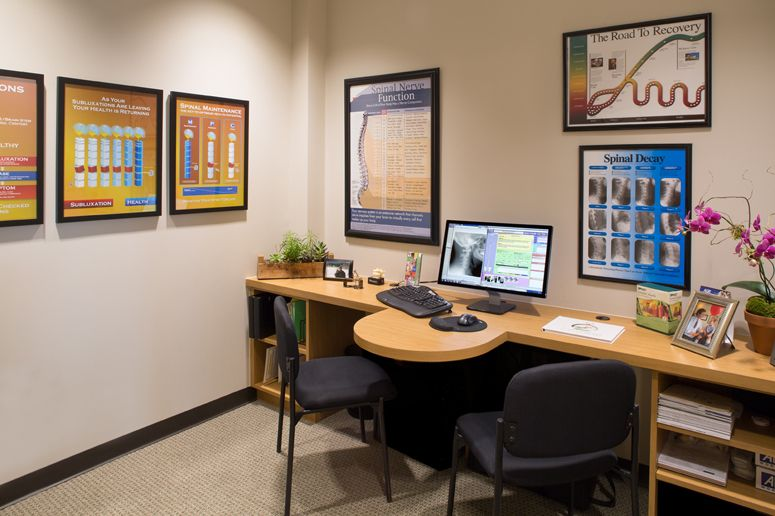 a clean organized chiropractic report of findings room chiropractic office designchiropractic