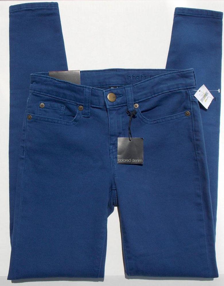 GAP Womens Premium Super Skinny Blue Colored Denim Jeans Size 10 /30 NEW $60 NWT #GAP #Skinny