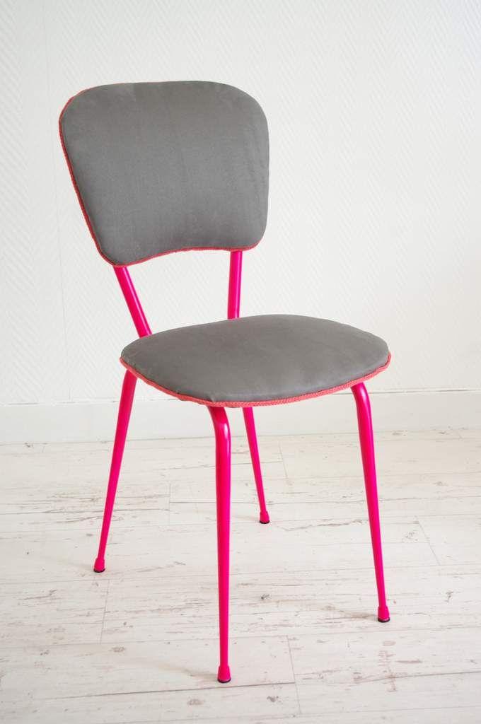 une nouvelle chaise annes 70 qui a chang de look la structure mtallique est peinte - Chaise Annee 70