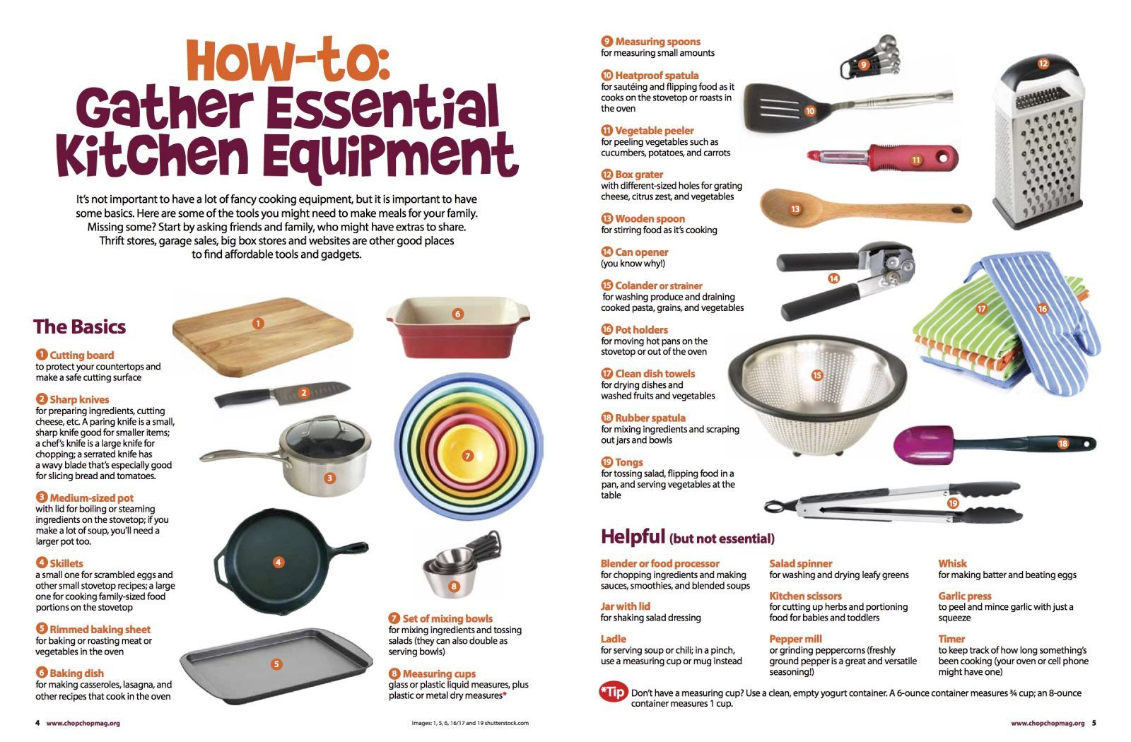 How-to: Gather Essential Kitchen Equipment | ChopChop | ChopChop WIC ...
