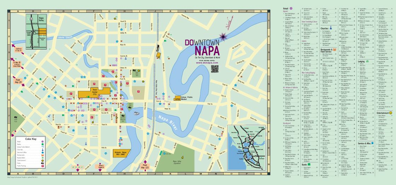 Map Downtown Napa
