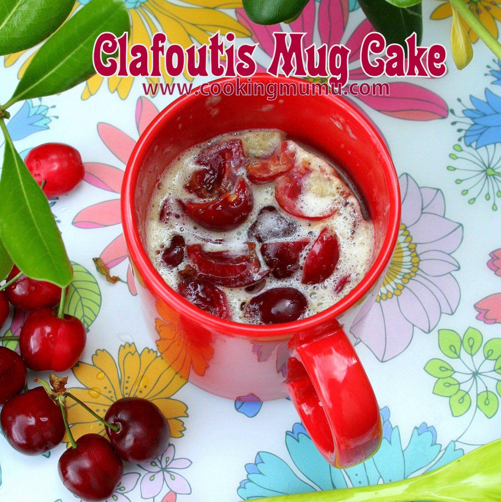 Un clafoutis version mug cake : 5mn de préparation, 1 micro-ondes et 0 vaisselle (ou presque)