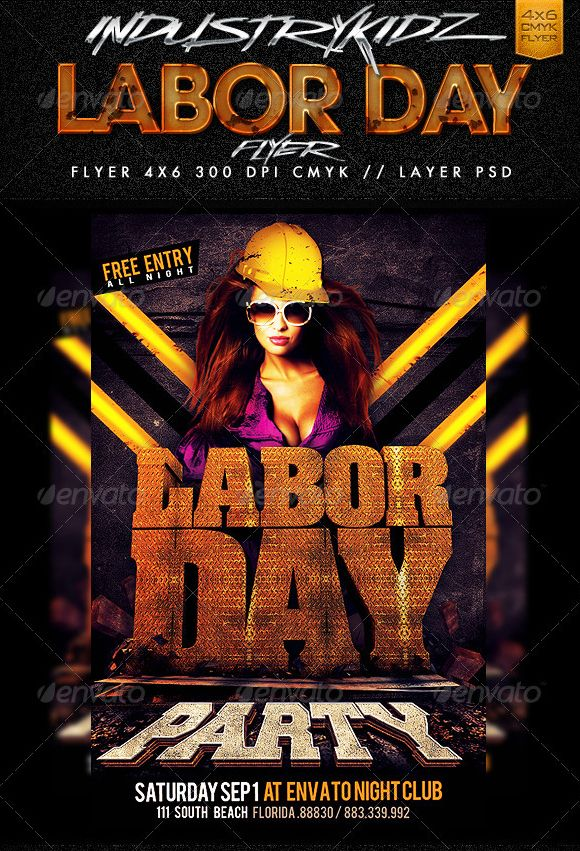 Labor Day Weekend Flyer | Labor Day 2014 | Pinterest | Labour