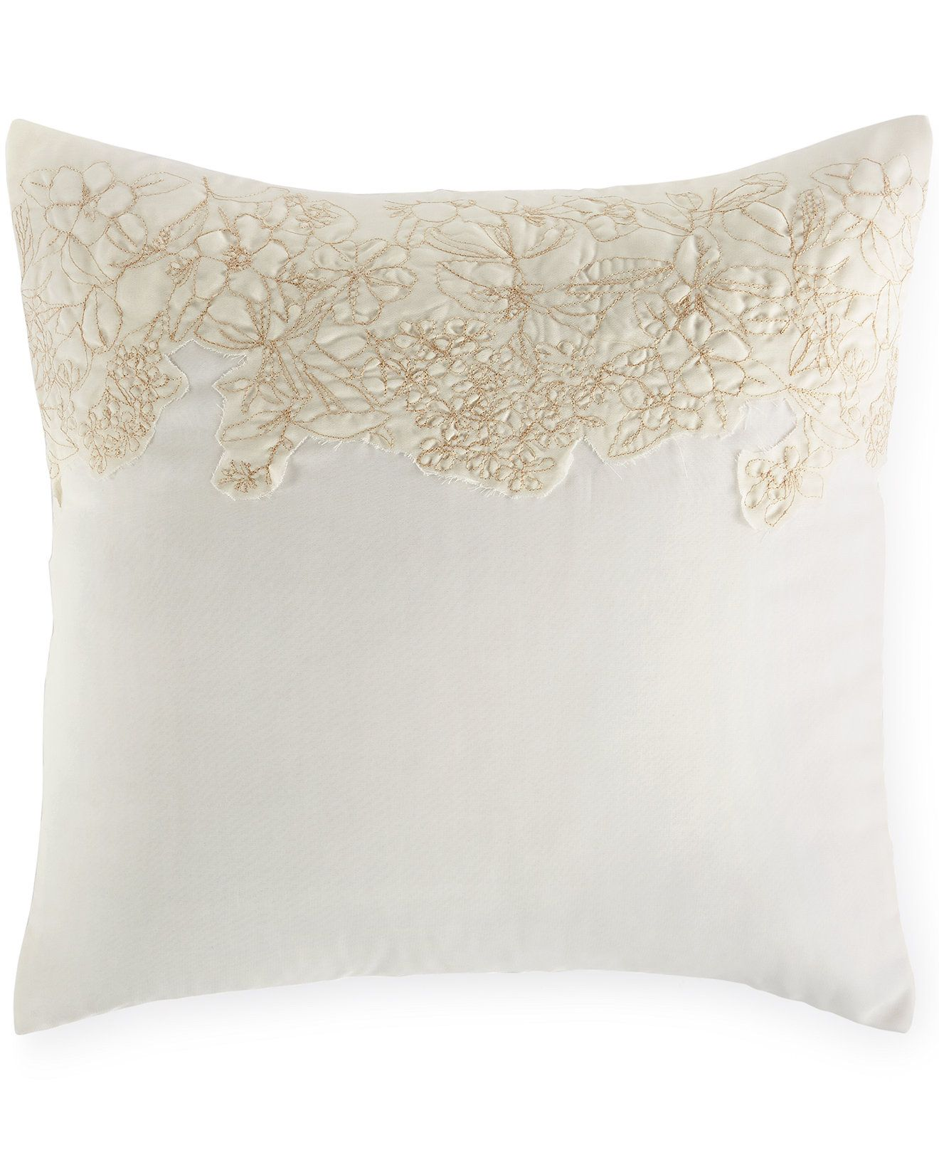 "Macy's Decorative Pillows Best Calvin Klein Embroidered Flora 18"" Square Decorative Pillow Design Decoration"