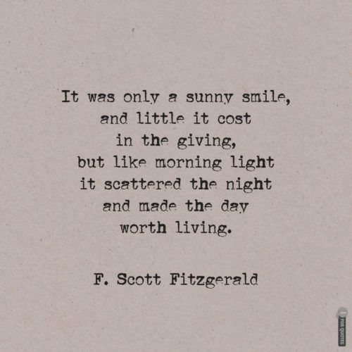 Life quote about love by famous author F. Scott Fitzgerald.