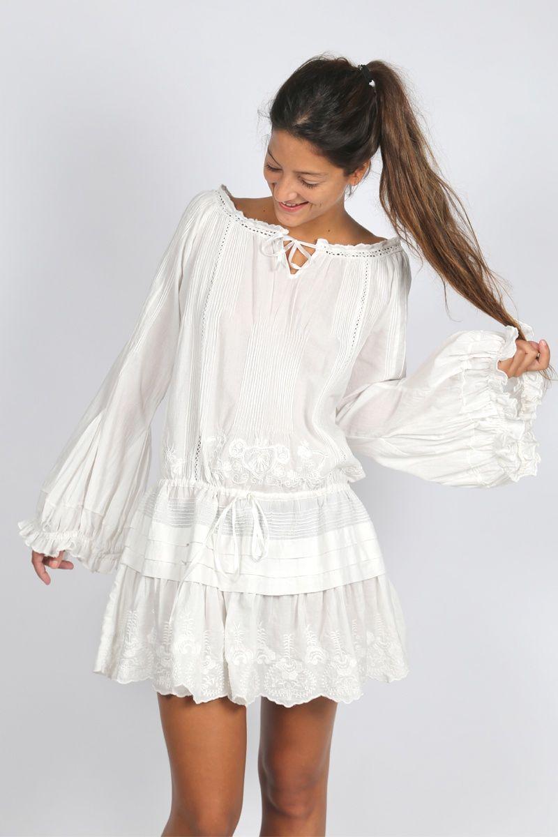 Vestido corto ibicenco  00ef86c1a7f0