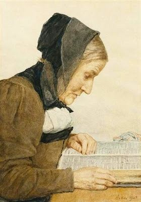 Albert Anker (1831-1910) Anciana