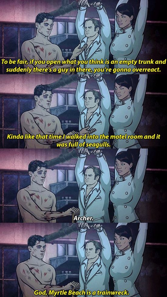Archer Tv Show Quotes Sterling Danger Zone Anime Comics