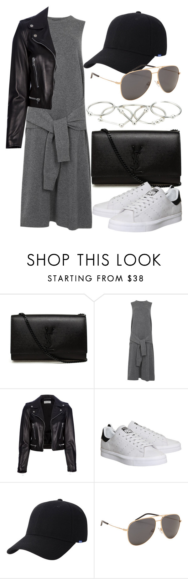 """Untitled #2196"" by annielizjung ❤ liked on Polyvore featuring Yves Saint Laurent, Joseph, adidas, Keds and Zimmermann"