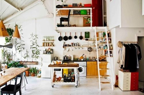 Bobby Petersen's loft space in a Victorian warehouse