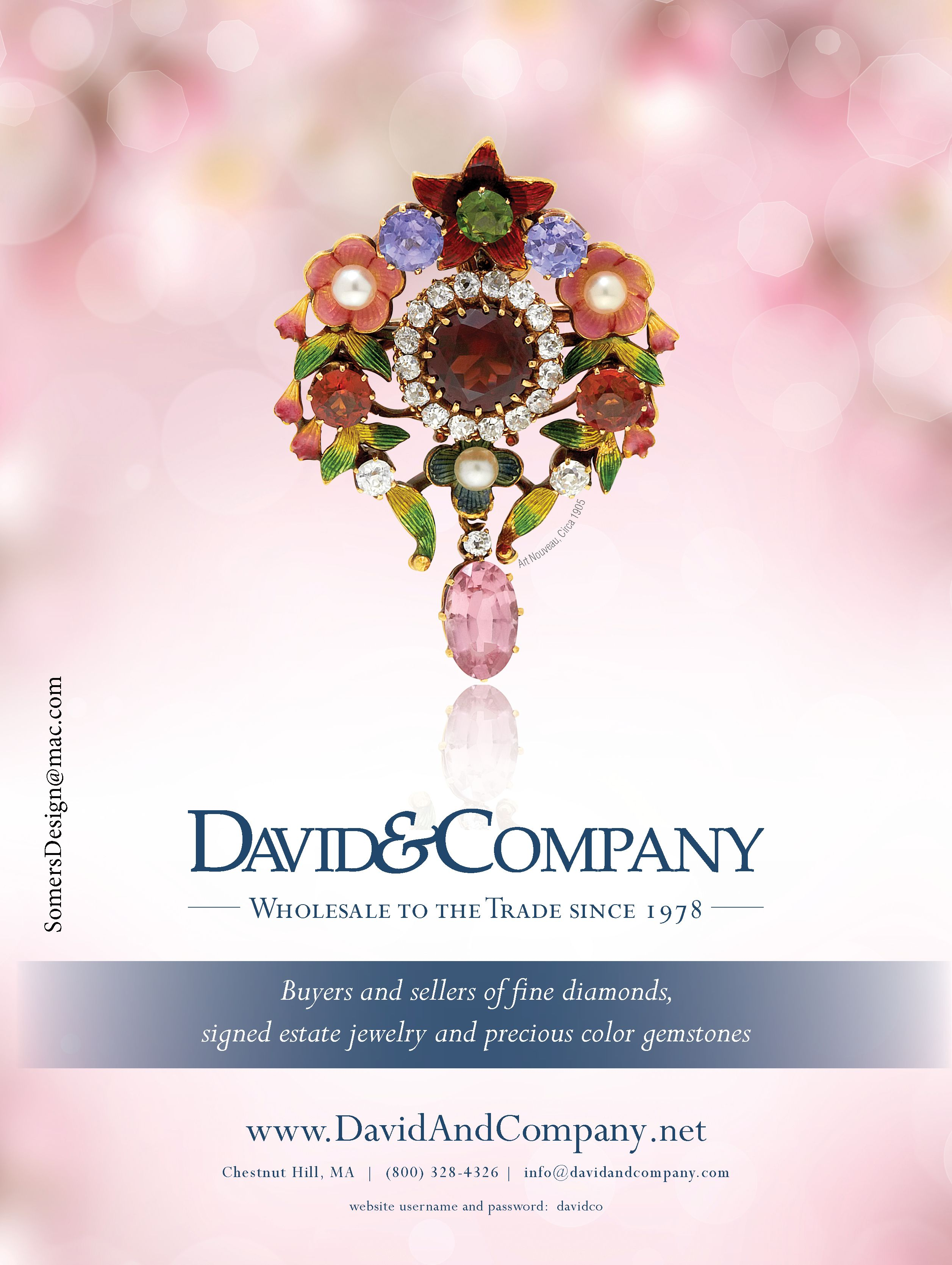 Advertisement For David Amp Company In Rapaport Magazine