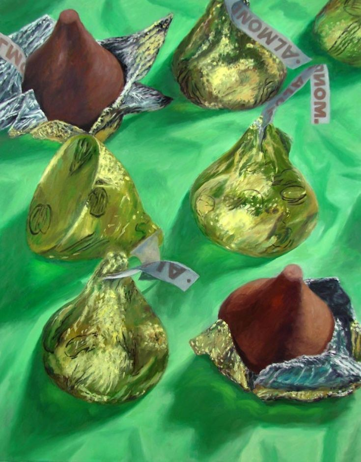 Almond Kisses In 2020 Candy Art Kiss Painting Chocolate Art