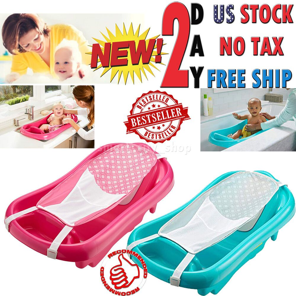Baby Bath Tub Infant Newborn Mesh Sling Safety Spa Seat Toddler