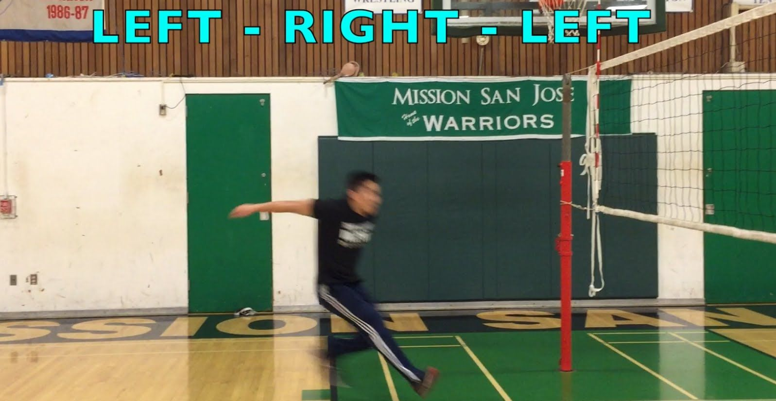Improve spiking footwork part 12 how to spike a