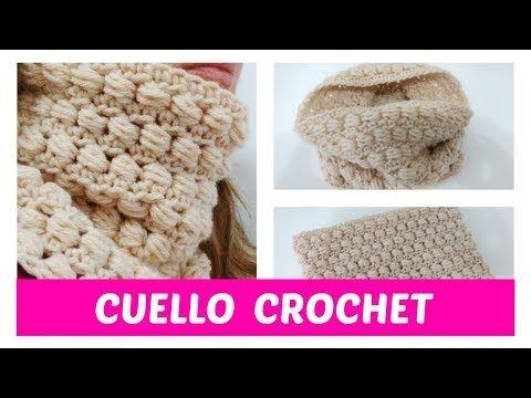76) Cuello crochet paso a paso - YouTube | Crochet prendas de ropa y ...